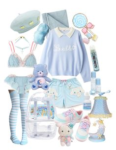 Designer Clothes, Shoes & Bags for Women Cute Casual Outfits, Pretty Outfits, Beautiful Outfits, Ddlg Outfits, Teen Fashion Outfits, Pastel Fashion, Kawaii Fashion, Kawaii Clothes, Kawaii Outfit