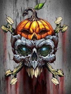 Skull for Halloween. Halloween Drawings, Halloween Skull, Happy Halloween, Halloween Pictures, Vintage Halloween, Fall Halloween, Arte Horror, Horror Art, Skull Design