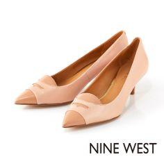 NINE WEST 知性典雅淑女款 細緻樂福設計低跟鞋-粉嫩橘 - Yahoo!奇摩購物中心