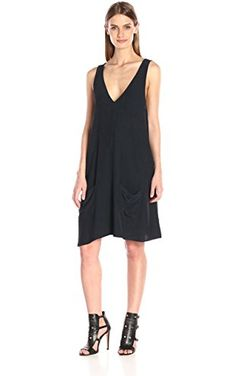 Joie Women's Kalyan Crepe Dress, Caviar, Large ❤ Joie Women's Collection