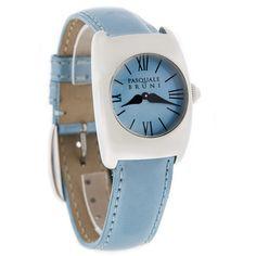 Pasquale Bruni Ladies Blue Leather Strap Swiss Quartz Watch 00UA66 Women's Dress Watches, Quartz Watch, Fashion Watches, Lady, Womens Fashion, Blue, Accessories, Cover, Leather
