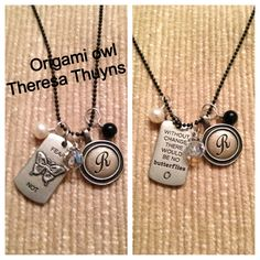Origami Owl Tagged collection -Fear not... $58