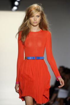 orange and blue colour pop ... love the shape and style of this dress
