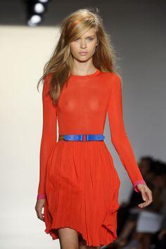 orange & bright blue