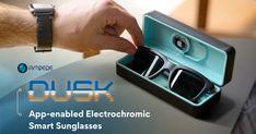 Dusk: App-enabled electrochromic smart sunglasses | Indiegogo Enabling, Cool Gadgets, Dusk, Lens, App, Technology, Sunglasses, Packing, Check