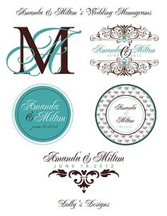 Personalized Wedding Monograms and Logos