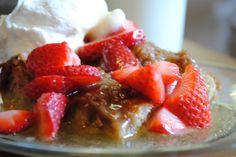 overnight strawberry baked french toast