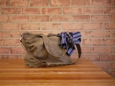 Waxed Canvas Zipper Tote Messenger in Tan Vegan Carry by solaWu