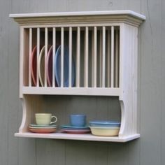 Kitchen Wood Plate Rack 12 Plate Holder and Shelf Wall Mount Crown Moulding via Etsy : wood wall plate rack - pezcame.com