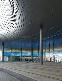Herzog & de Meuron added three new halls to the Messe Basel exhibition centre in the north of the Swiss city where the architects are based.