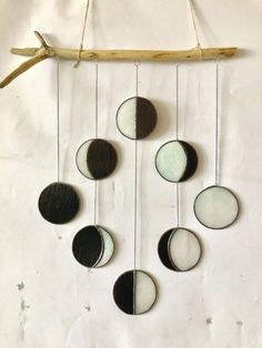 Moon Phase 8 Step Moon mobile window hanging Stained glass Mobile Suncatcher Wood Moon Phases Wall art Decor Moon Phase Crescent Full Moon - My PT Sites Hanging Stained Glass, Stained Glass Art, Mason Jar Sconce, Moon Crafts, Diy Crafts, Window Hanging, Suncatchers, Mobiles, Wall Art Decor
