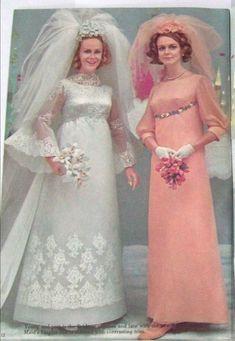 Vintage Wedding Photography, Vintage Wedding Photos, Vintage Bridal, 1960s Wedding Dresses, Bridal Wedding Dresses, Wedding Attire, Old Fashioned Wedding, Hippie Bride, Chic Vintage Brides