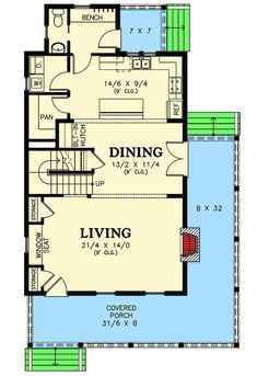 Cottage with 3rd Floor Loft - 69438AM | Architectural Designs - House Plans