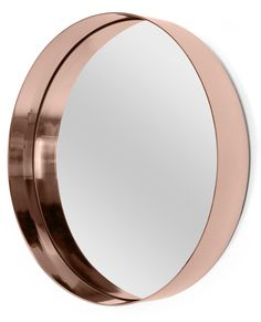 Alana Round Mirror, Copper Catch a glimpse of that rosy glow in the mirror. Copper is right on trend. Copper Mirror, Rose Gold Mirror, Gold Rooms, Downstairs Toilet, Round Mirrors, Unique Mirrors, Oval Mirror, My New Room, Home Accessories