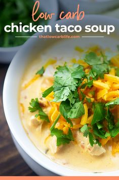 This low carb soup is cooked in the Instant Pot so it's super fast and has loads of flavor. #keto #lowcarb #instantpot #chicken Low Carb Taco Soup, Keto Soup, Low Carb Diet Plan, Low Carb Keto, Beef Steak Recipes, Chicken Recipes, Sugar Free Recipes Healthy, Lunch Recipes, Soup Recipes