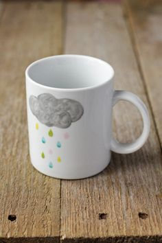 Rainy cloud mug by Asleepfromday on Etsy, €10.00