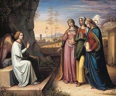 Peter von Cornelius - The Three Marys at the Tomb 1815-1822