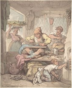 The Tailor Artist: Copy after Thomas Rowlandson (British, London 1757–1827 London) Date: 1814 Medium: Pen and ink, with watercolor Dimensions: sheet: 11 5/8 x 9 1/2 in. (29.5 x 24.1 cm) Classification: Drawings Credit Line: The Elisha Whittelsey Collection, The Elisha Whittelsey Fund, 1959 Accession Number: 59.533.1656