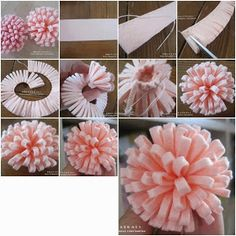 Easy,creative DIY fun crafts for girls to make at home for decorating teenage girl's room.Make inexpensive DIY Crafts for girl's room decor Felt Diy, Felt Crafts, Fabric Crafts, Diy And Crafts, Paper Crafts, Diy Paper, Tulle Crafts, Simple Crafts, Decor Crafts