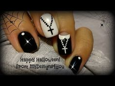 Halloween+Nail+Art+Design+|+Fun+'Nun'+Nails+♥