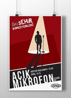 """@Behance projeme göz atın: """"Poster Design for A Stand Up Comedy"""" https://www.behance.net/gallery/43972067/Poster-Design-for-A-Stand-Up-Comedy"""