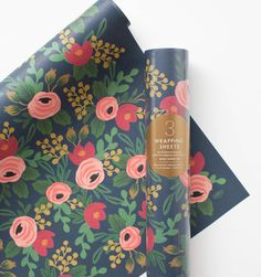 Rosa Set of 3 Rolled Wrapping Sheets   Rifle Paper Co   design inspo for my new cubicle