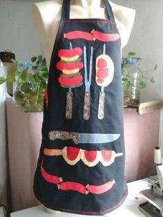 Avental  Motivo  churrasco  Execução Retalho de Luxo