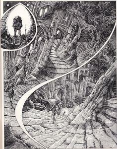 orano:  Bihannic/Druillet - In Métal Hurlant # 24 (Heavy Metal) Dec. 1977 - French comics magazine - Les humanoïdes associés, Paris