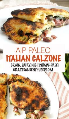 AIP Italian Calzones | Grazed & Enthused Grain, dairy, nut and nightshade-free calzones made from sweet potato!