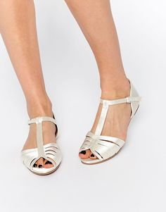 Image 1 ofASOS JENNA Satin Occasion Peep Toe Shoes