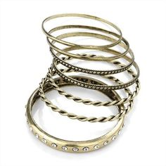 Minerva Collection 7 Piece Fashion Bangle Set Burnt Gold  Price : £10.00 http://www.minervacollection.com/Minerva-Collection-Piece-Fashion-Bangle/dp/B00862GZ4O