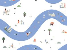 Lotta Nieminen First draft for the Korean cosmetics brand Laneige's packaging illustration