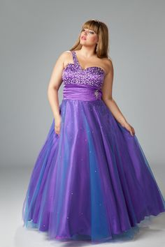 Plus Size Dazzling Plus Size Prom Gown