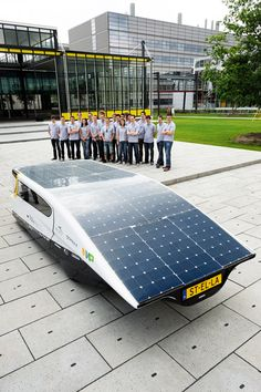 world's first electricity producing solar powered family car - designboom