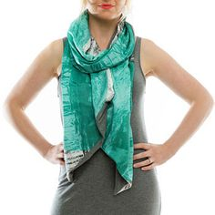 Australian Made Gifts & Souvenirs with the Teal Silk Tumble Weeds Scarf -by The Spotted Quoll. For the best Australian online shopping for a Accessories - 1