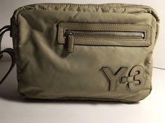 Y-3 YOHJI YAMAMOTO ADIDAS Tan Nylon Zippered Handbag Wristlet  1503969c4c6f7
