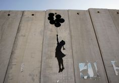 Politics or art? This art work was sprayed by Banksy on the apartheid wall in Palestine. Banksy is a street artist . Street artists use . Banksy Graffiti, Street Art Banksy, Banksy Artwork, Bansky, Johannes Vermeer, Mandala Art, Banksy Palestine, Illustrations, Illustration Art