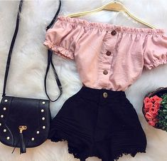 clothing, fashion, and outfits image - clothes - Teenage Girl Outfits, Teen Fashion Outfits, Mode Outfits, Cute Fashion, Outfits For Teens, Trendy Fashion, Cute Casual Outfits, Cute Summer Outfits, Short Outfits