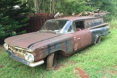 Rare & Rusty: 1959 Chevrolet Sedan Delivery - http://barnfinds.com/rare-rusty-1959-chevrolet-sedan-delivery/