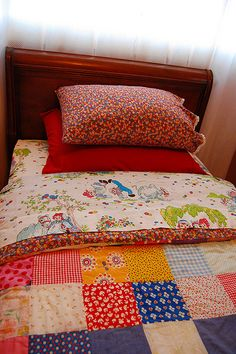 patchwork quit- this looks like the bed I slept in at grandma's house.