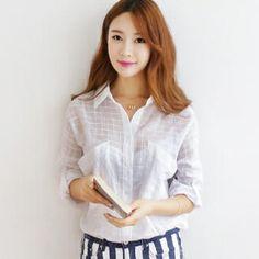 SUVINSHOP - Tab-Sleeve Big-Pocket Shirt| yesstyle.com
