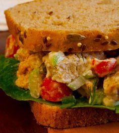 """My Vegan Cookbook -Vegan """"Chicken"""" Salad"""