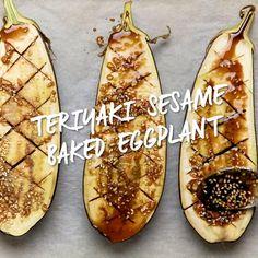 Eggplant Side Dishes, Vegan Side Dishes, Veggie Dishes, Veggie Recipes, Whole Food Recipes, Cooking Recipes, Healthy Recipes, Vegan Eggplant Recipes, Japanese Eggplant Recipes
