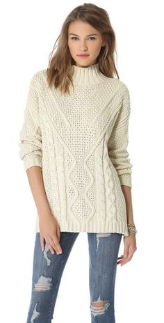 525 America Cotton Cable Mock Sweater #Sweaters #fashion