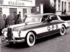 To my mind probably the most beautiful blue and white hooped liveried car in the whole world QPR Salad Days Queens Park Rangers Fc, Rangers Football, Leeds United, Vintage Football, Great Team, West London, My Heritage, Blue And White, The Unit
