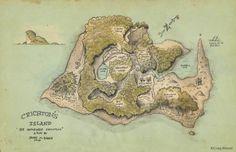 Crichton's Island Map Print Barrie's The Admirable Crichton. $20.00, via Etsy.