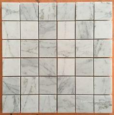 White Carrara Marble Mosaic Tiles