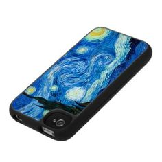 Starry Night Painting By Painter Vincent Van Gogh Iphone 4 Covers by graficallyminded