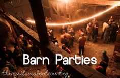 barn parties