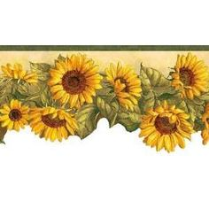 Sunflower themed Kitchen | Border Wallpaper Kitchen